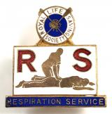 Royal Life Saving Society RLSS Respiration Service Corps badge