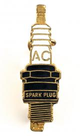 Albert Champion AC Spark Plug miniature advertising badge