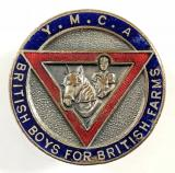 YMCA British Boys for British Farms numbered badge