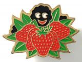 Robertsons c1980 Golly strawberry fruit badge variant without bubble finish