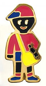Robertsons c1996 Golly paperboy badge variant