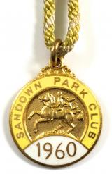 1960 Sandown Park horse racing club badge