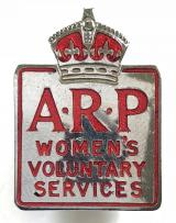 Womens Voluntary Services WVS ARP home front badge