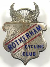 Rotherham Cycling Club winged wheel badge