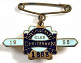 1955 Cheltenham Steeplechase horse racing club badge
