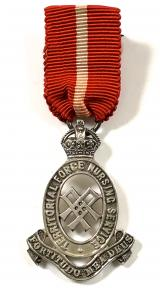 Territorial Force Nursing Service TFNS silver tippet badge medal