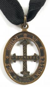 Guild of St Barnabas For Nurses bronze badge