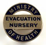 Ministry of Health evacuation nursery badge