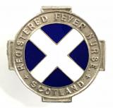 Registered Fever Nurse Scotland 1950 silver RFN badge
