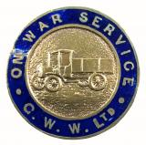 WW1 On War Service G.W.W.Ltd wagon lorry badge