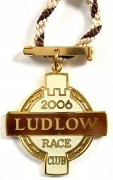 2006 Ludlow Racecourse horse racing club badge
