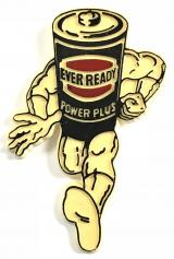 Ever Ready Power Plus battery advertising badge
