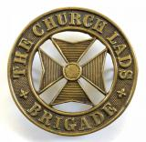 Church Lads Brigade CLB officers leather crossbelt badge