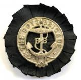 Boys Brigade pre union officers glengarry badge and rosette