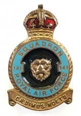 RAF No 141 Battle of Britain Squadron Royal Air Force badge