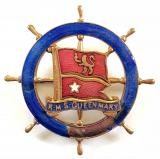 RMS Queen Mary Cunard White Star shipping line badge by Stratton Birmingham