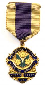 Primrose League Junior Branch award of merit badge