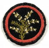 Girl Guides Heather flower patrol emblem felt cloth badge