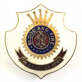 Salvation Army white enamel shield badge