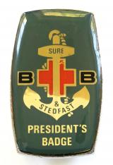 Boys Brigade Presidents bubble finish badge 1984 to 1994