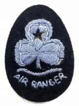 Girl Guides Air Rangers embroidered felt cloth hat badge