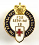 British Red Cross Society for 15 years service badge