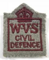 Womens Voluntary Service WVS Civil Defence felt cloth badge