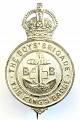 Premier Award of the Boys Brigade The Kings Badge 1927 to 1953