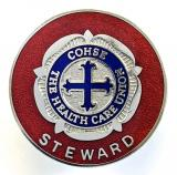 COHSE the health care union Steward badge