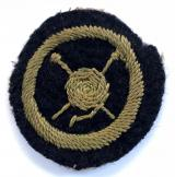 Girl Guides knitter proficiency felt cloth badge