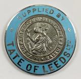 TATE of LEEDS Ltd St Christopher motor car dealership dashboard badge