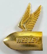 Webley sporting guns and ammunition promotional winged bullet badge