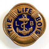 The Life Boys small school cap style hat badge