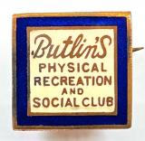 Butlins physical recreation and social club badge