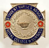 Student Nurses Association Royal College of Nursing union badge