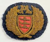 Airlines Jersey Limited gold bullion felt cloth cap badge