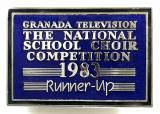 Granada Television The National School Choir Competition 1983 badge