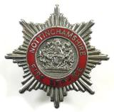 Nottinghamshire Fire Service firemans cap badge