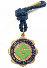 1972 Goodwood Racecourse Richmond Stand horse racing badge