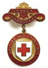 British Red Cross Society London Hampstead County badge