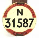 PSV Bus Driver London Traffic Area licensing badge