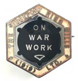 The Stockport Ring Mills Ltd war worker numbered badge