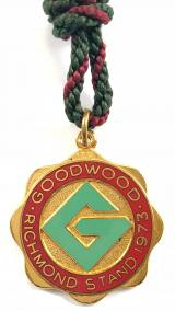 1973 Goodwood Racecourse Richmond Stand horse racing badge