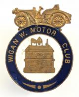 Wigan W. Motor Club Edwardian membership lapel badge