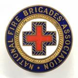 National Fire brigades Association firemans NFBA red cross arm badge