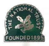 The National Trust Founded 1895 metal membership badge