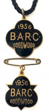 British Automobile Racing Club BARC Goodwood 1956 pair of badges