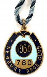 1960 Newbury horse racing club badge