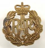 Royal Air Force post 1953 other ranks brass RAF cap badge