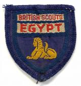 British Scouts Egypt Boy Scouts abroad cloth badge